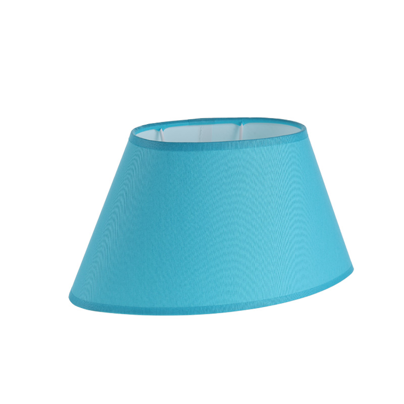 lampenschirm aqua aus stoff in blau ovale form aufnahme. Black Bedroom Furniture Sets. Home Design Ideas