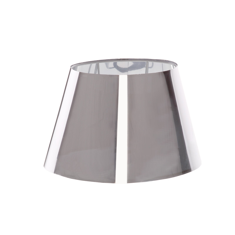 lampenschirm aus durchscheinender folie in chrom ovale form aufnahme e27 unten wohnlicht. Black Bedroom Furniture Sets. Home Design Ideas