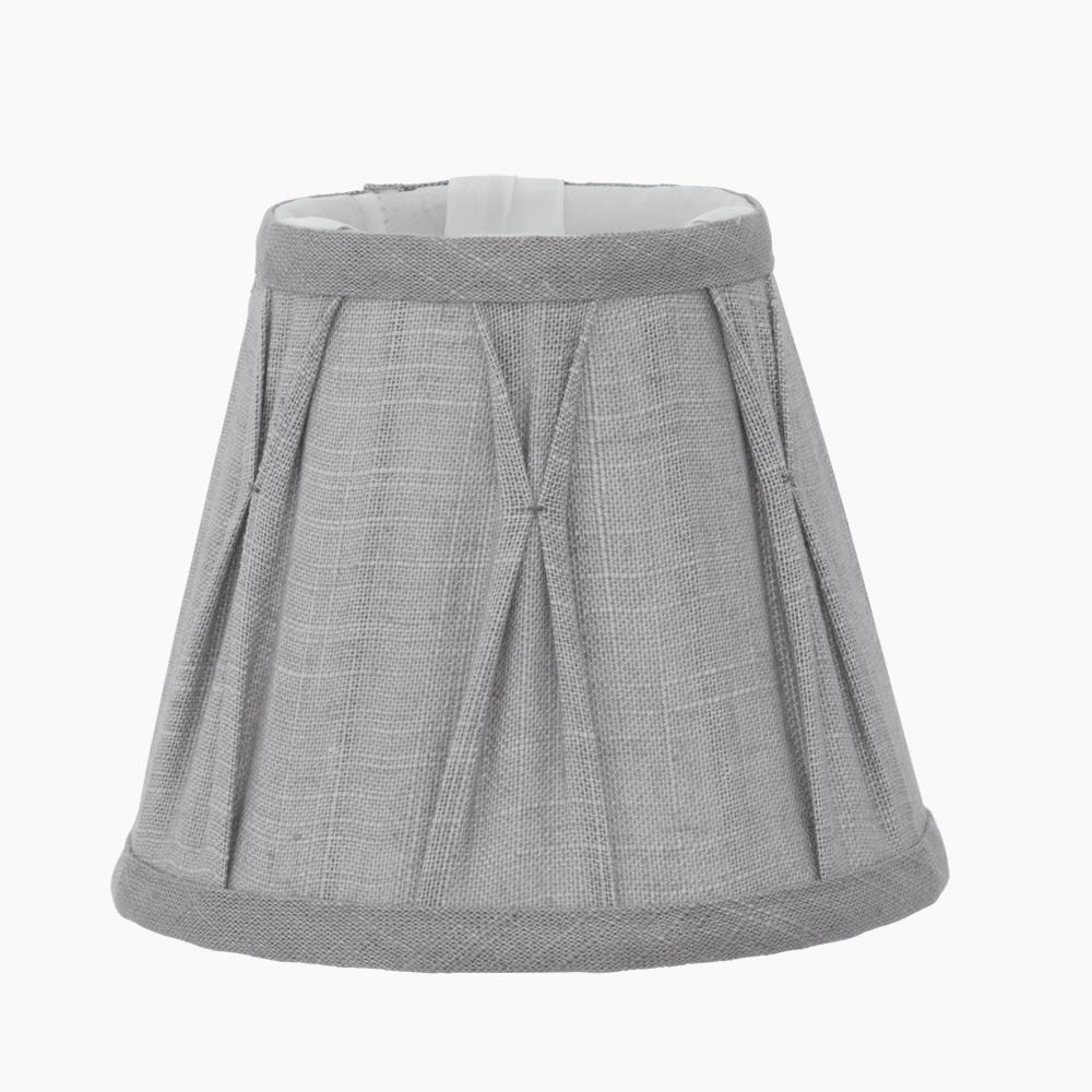 lampenschirm aus leinen in grau h he 12 5 cm durchmesser 15 5 cm wohnlicht. Black Bedroom Furniture Sets. Home Design Ideas
