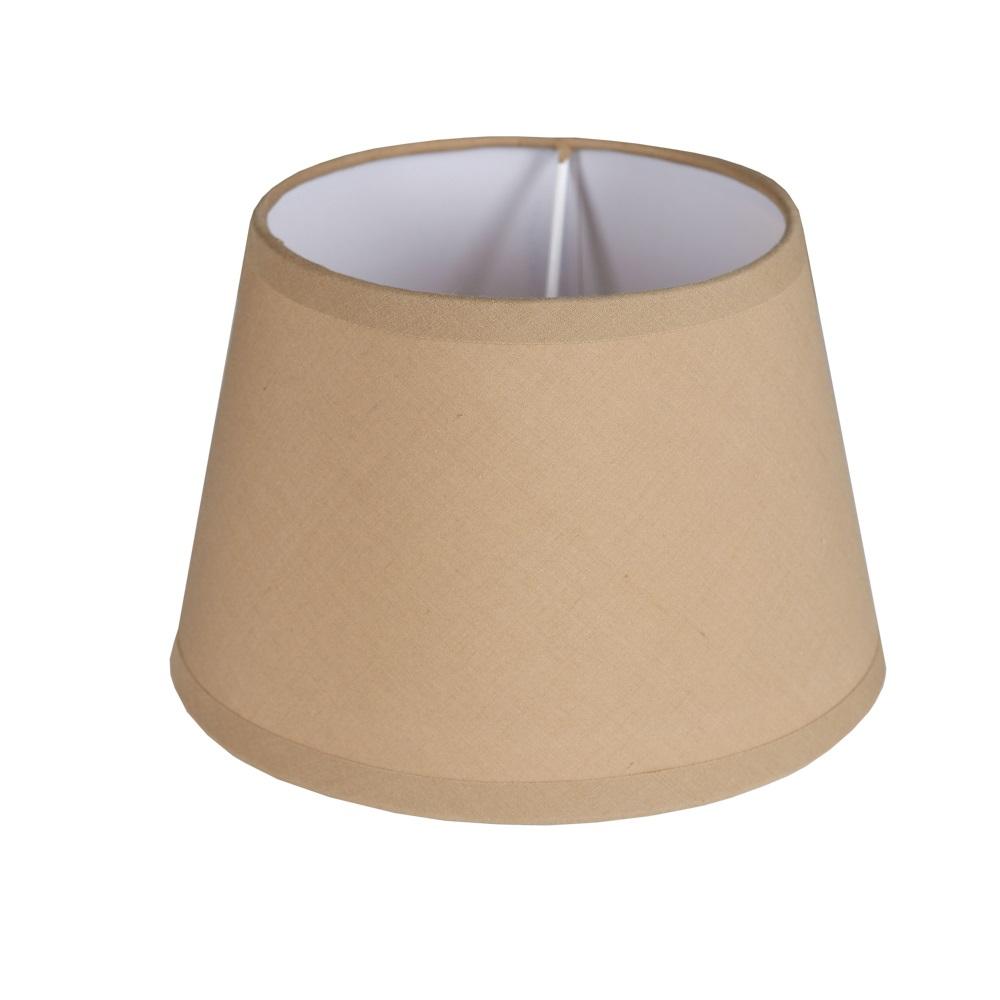 lampenschirm aus sandfarbenem stoff rund 20cm aufnahme e27 unten wohnlicht. Black Bedroom Furniture Sets. Home Design Ideas