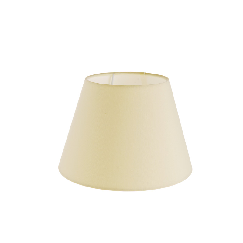 lampenschirm aus stoff in creme rund 20cm aufnahme e27 unten wohnlicht. Black Bedroom Furniture Sets. Home Design Ideas