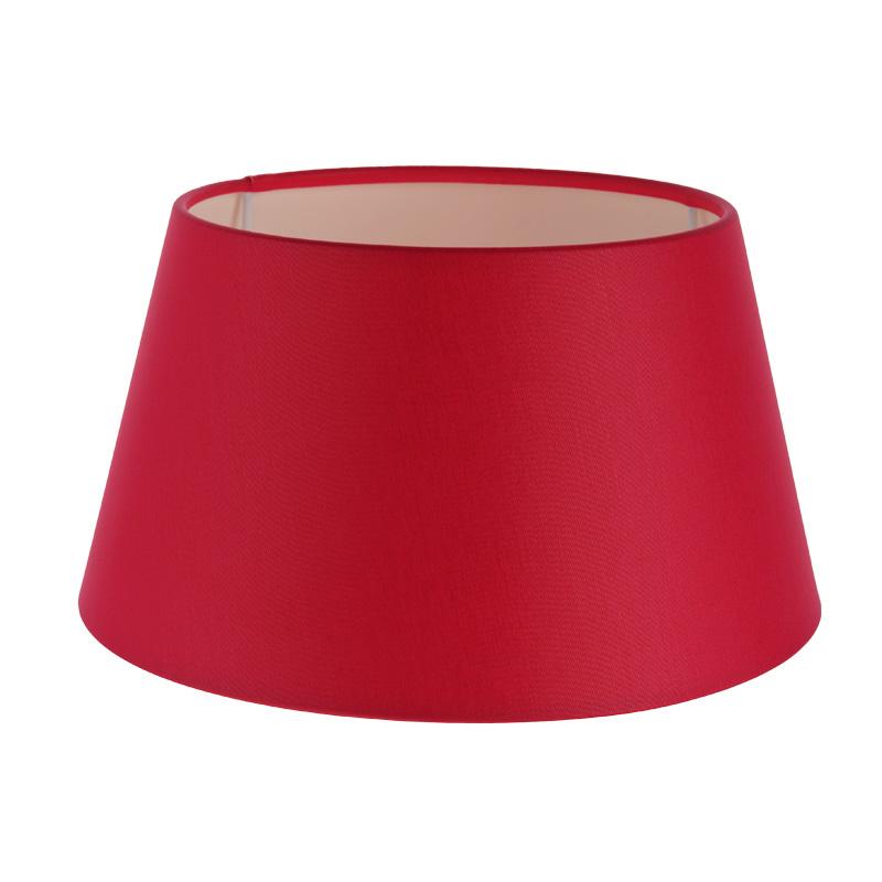 lampenschirm aus stoff in fuchsia rot rund 25cm aufnahme. Black Bedroom Furniture Sets. Home Design Ideas