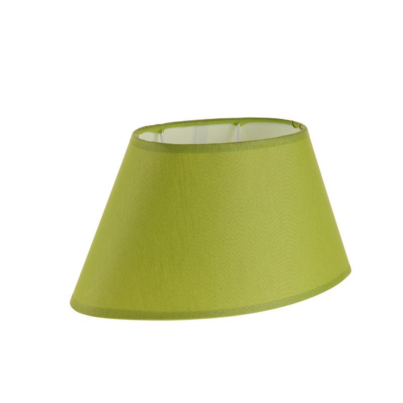 lampenschirm aus stoff in gr n ovale form aufnahme e27. Black Bedroom Furniture Sets. Home Design Ideas