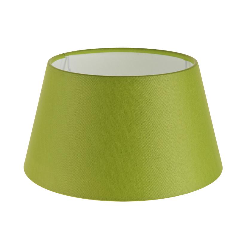 lampenschirm aus stoff in gr n rund 25cm aufnahme e27 unten wohnlicht. Black Bedroom Furniture Sets. Home Design Ideas
