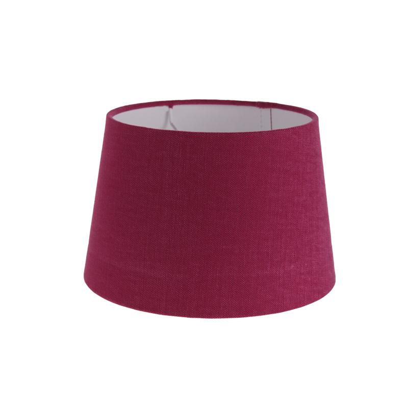lampenschirm aus stoff in himbeerrosa rund 20cm aufnahme e27 unten wohnlicht. Black Bedroom Furniture Sets. Home Design Ideas