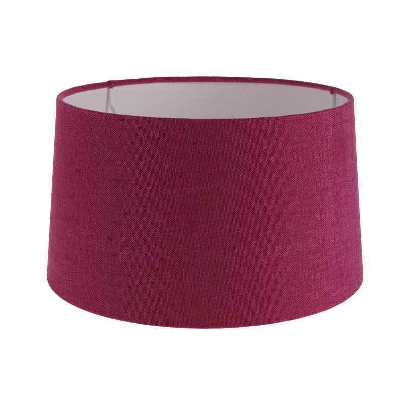 lampenschirm aus stoff in himbeerrosa rund 25cm aufnahme e27 unten wohnlicht. Black Bedroom Furniture Sets. Home Design Ideas