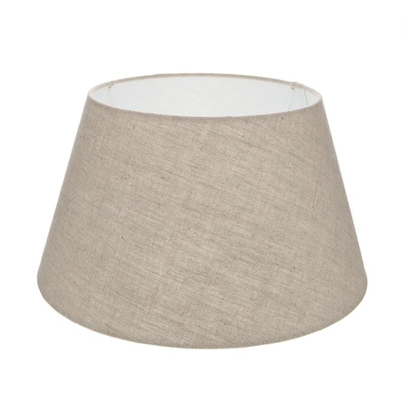 lampenschirm aus stoff sandfarben rund 25cm aufnahme e27 unten wohnlicht. Black Bedroom Furniture Sets. Home Design Ideas