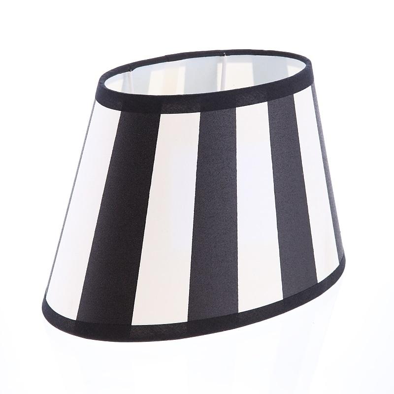 lampenschirm aus stoff schwarz beige sehr helles beige gestreift ovale form aufnahme e27 unten. Black Bedroom Furniture Sets. Home Design Ideas
