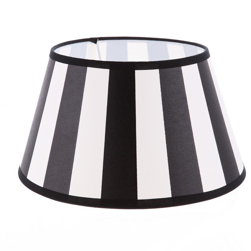 lampenschirm aus stoff schwarz beige sehr helles beige gestreift rund 30cm aufnahme e27. Black Bedroom Furniture Sets. Home Design Ideas