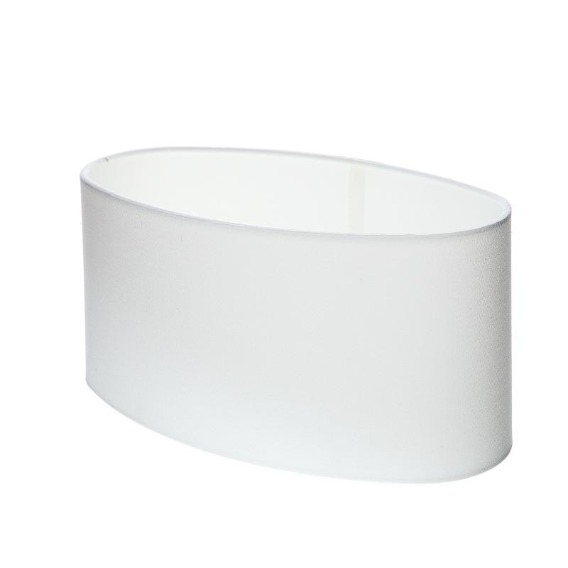 lampenschirm aus stoff in wei oval aufnahme unten e27 wohnlicht. Black Bedroom Furniture Sets. Home Design Ideas