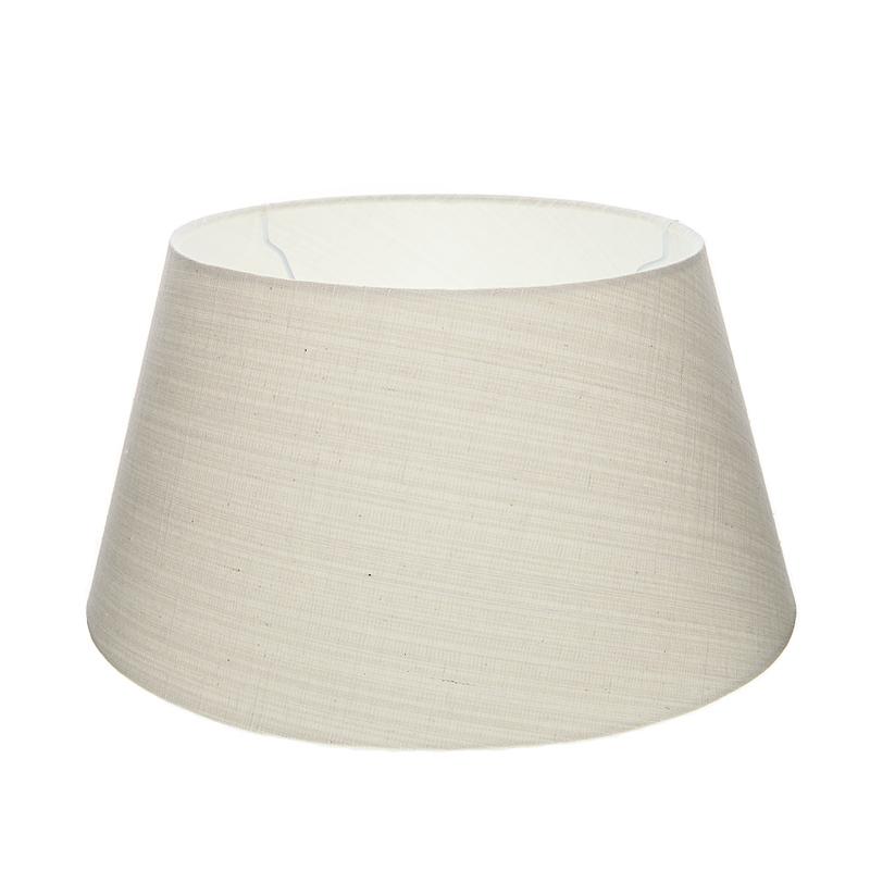 lampenschirm aus stoff in wei rund 30cm aufnahme e27 unten wohnlicht. Black Bedroom Furniture Sets. Home Design Ideas