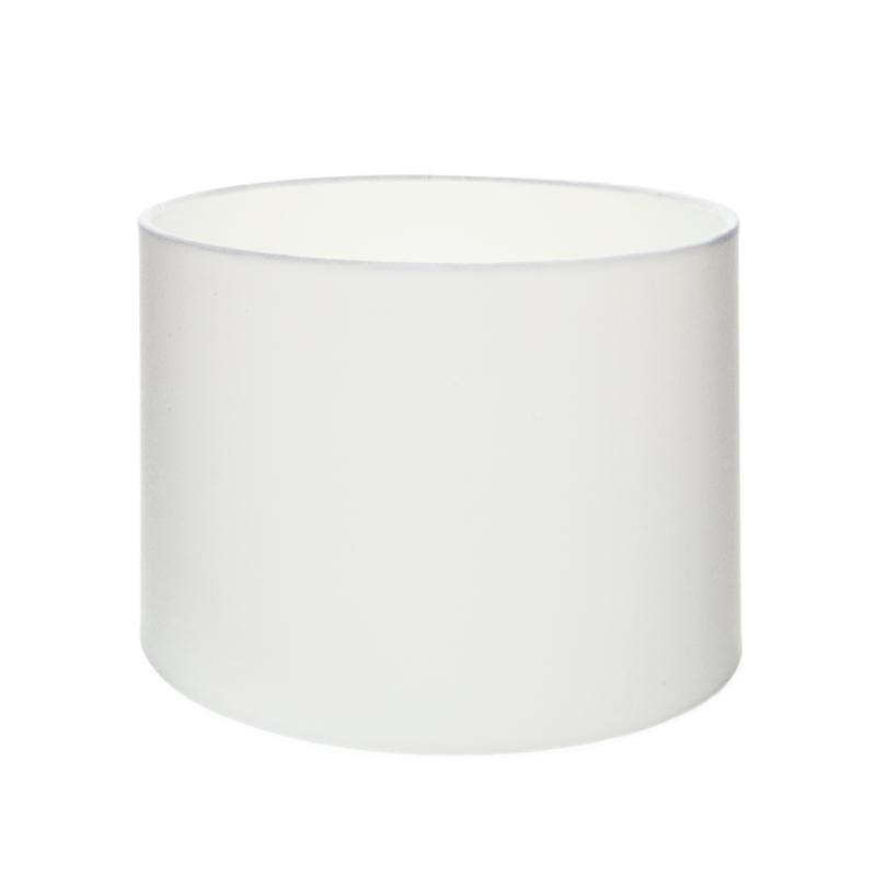 lampenschirm aus stoff in wei zylinderf rmig 25cm aufnahme e27 unten wohnlicht. Black Bedroom Furniture Sets. Home Design Ideas