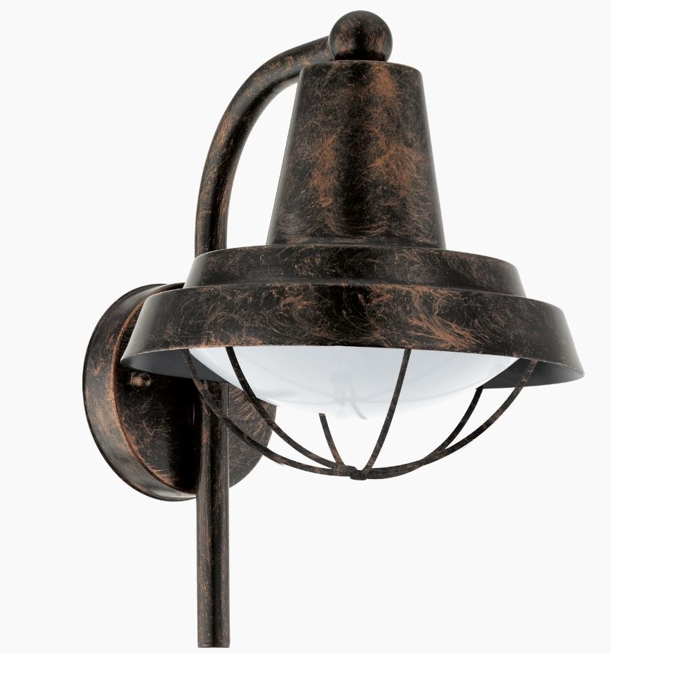 landhaus wandleuchte in braun kupfer antik braun kupfer. Black Bedroom Furniture Sets. Home Design Ideas
