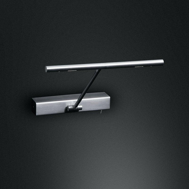led bilderleuchte schwenkbar mit schalter in 3 oberfl chen w hlbar wohnlicht. Black Bedroom Furniture Sets. Home Design Ideas