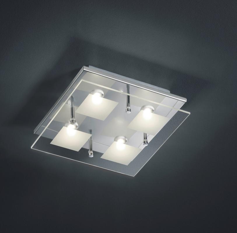 led deckenleuchte antonio 2 gr en wohnlicht. Black Bedroom Furniture Sets. Home Design Ideas