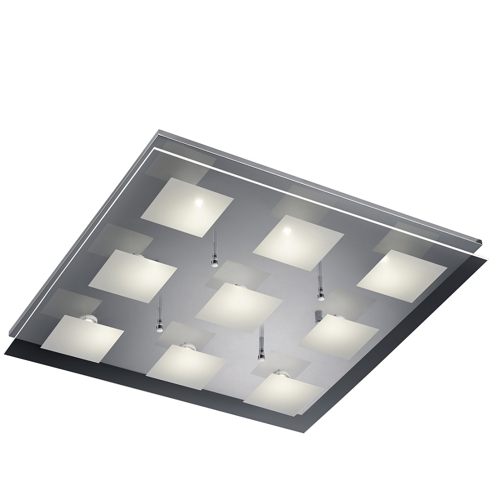 led deckenleuchte antonio 60 x 60 cm wohnlicht. Black Bedroom Furniture Sets. Home Design Ideas