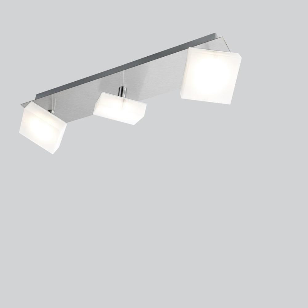 led deckenleuchte denise nickel matt 3 flammig 3x 5 watt 39 00 cm 8 00 cm wohnlicht. Black Bedroom Furniture Sets. Home Design Ideas