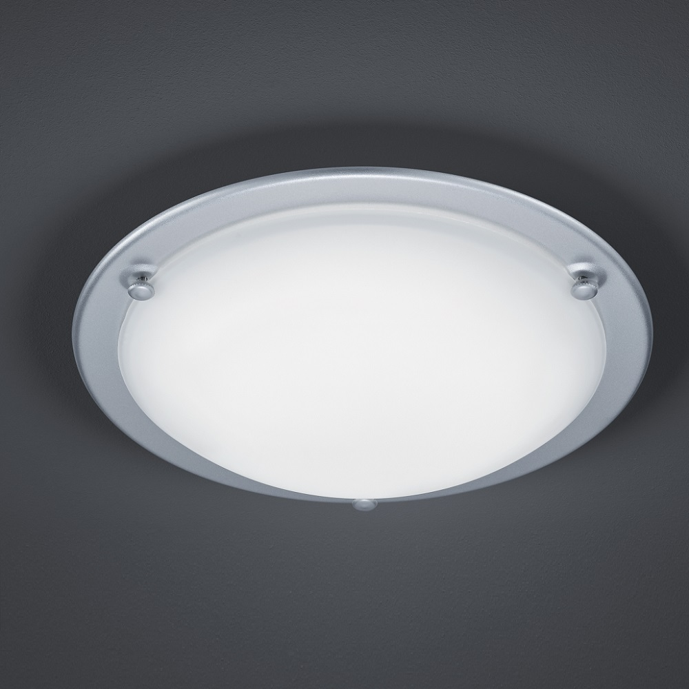 led deckenleuchte mit satiniertem glas ring titan 1x 10 watt titan wohnlicht. Black Bedroom Furniture Sets. Home Design Ideas