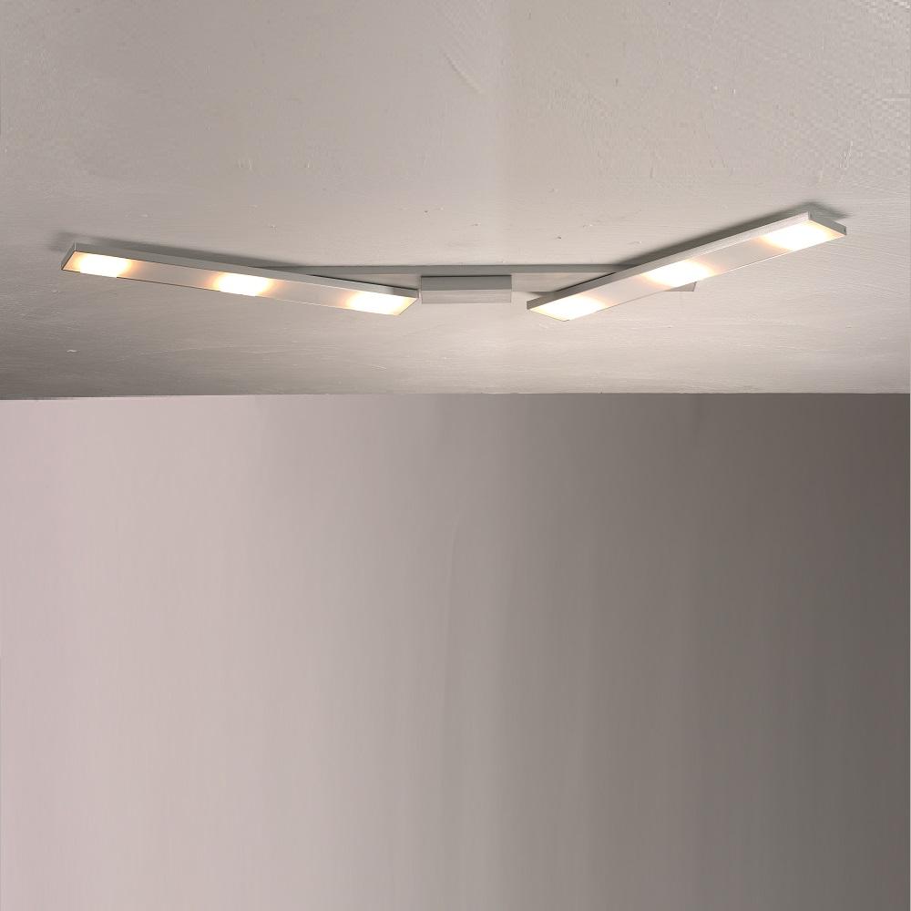 led deckenleuchte slight aus aluminium 6 flammig wohnlicht. Black Bedroom Furniture Sets. Home Design Ideas