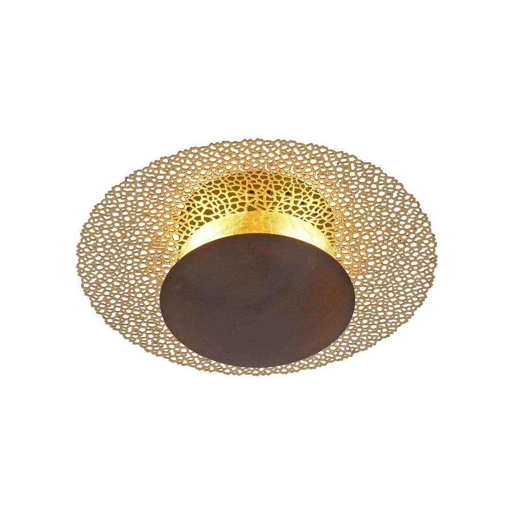 LED Deckenleuchte, Gold, Rost, Rund, D= 30 o. 45cm, Simply Dim   WOHNLICHT