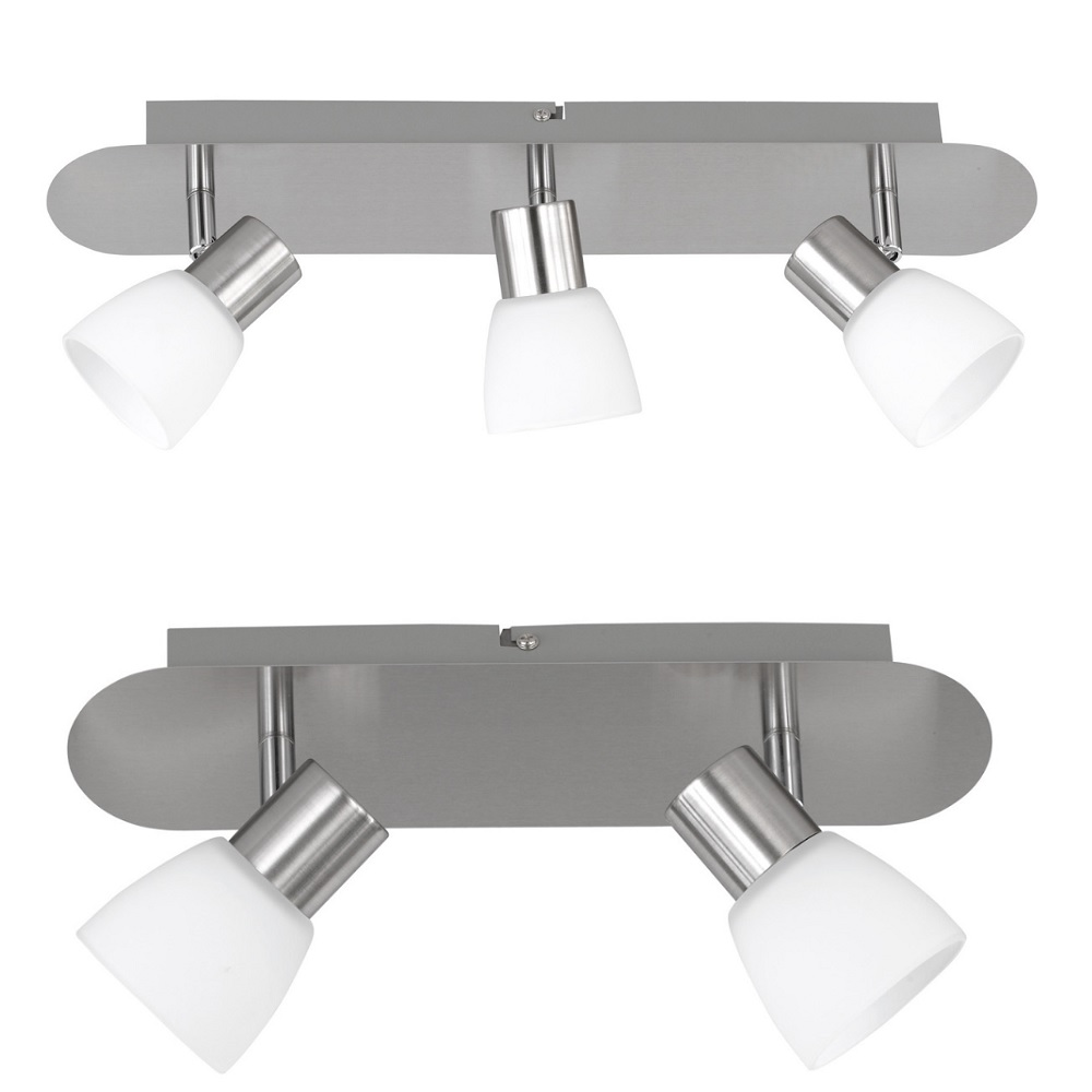led deckenstrahler charles 2 oder 3 flammig wohnlicht. Black Bedroom Furniture Sets. Home Design Ideas