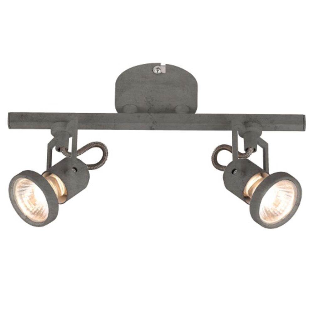 led deckenstrahler concreto beton optik 2 flammig 2x 4 5 watt 28 00 cm wohnlicht. Black Bedroom Furniture Sets. Home Design Ideas
