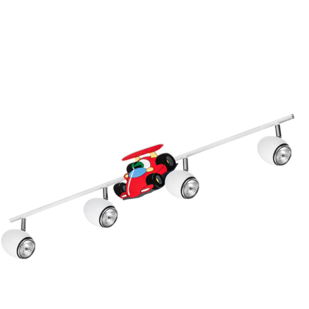 Led deckenstrahler kinderzimmer car 4 flammig 4x 4 5 watt - Kinderzimmer auto ...