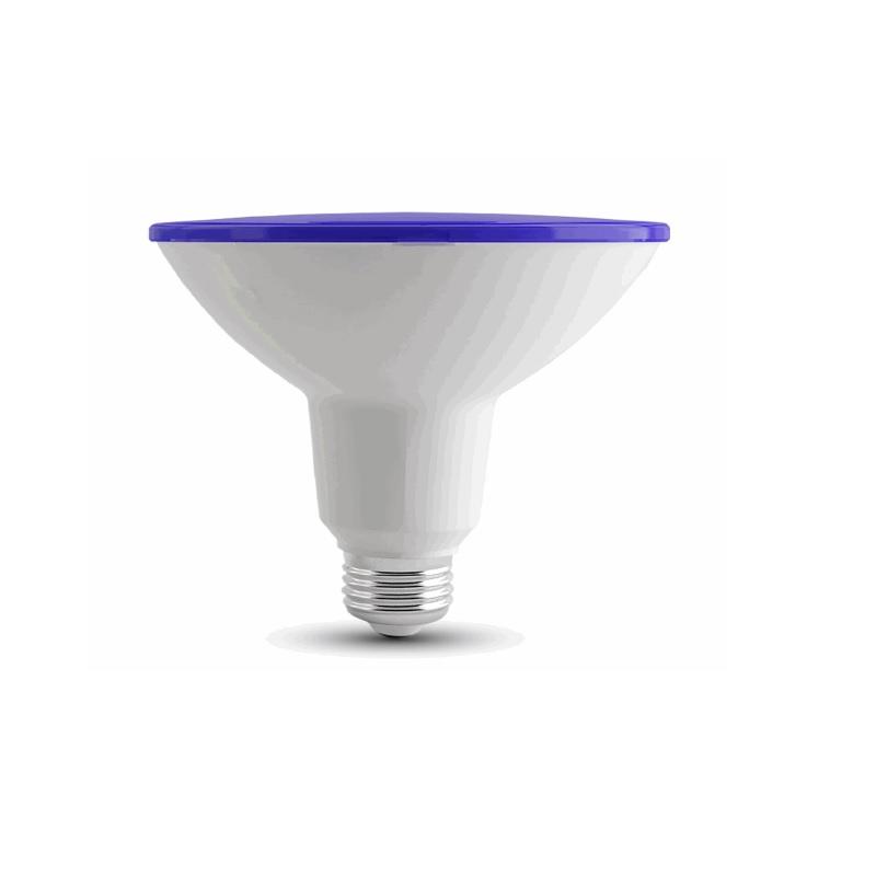 led e27 leuchtmittel par38 in der lichtfarbe blau wohnlicht. Black Bedroom Furniture Sets. Home Design Ideas