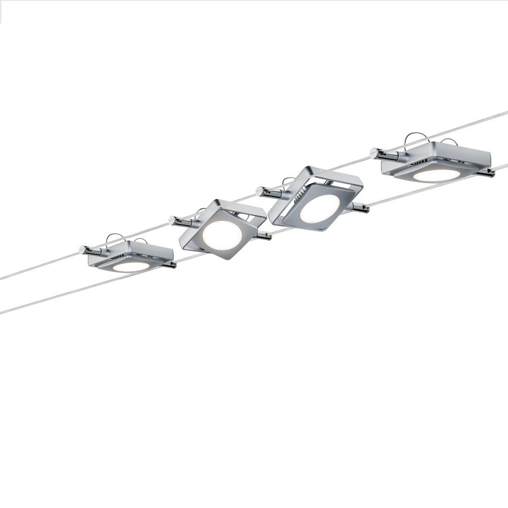 led komplett seilsystem mac chrom 4x 4watt wohnlicht. Black Bedroom Furniture Sets. Home Design Ideas