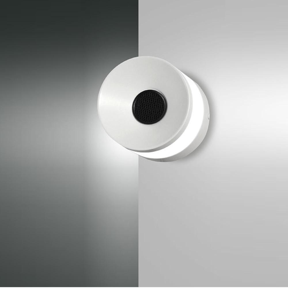 LED Lampe mit Bluetooth Lautsprecher in weiß weiß   WOHNLICHT