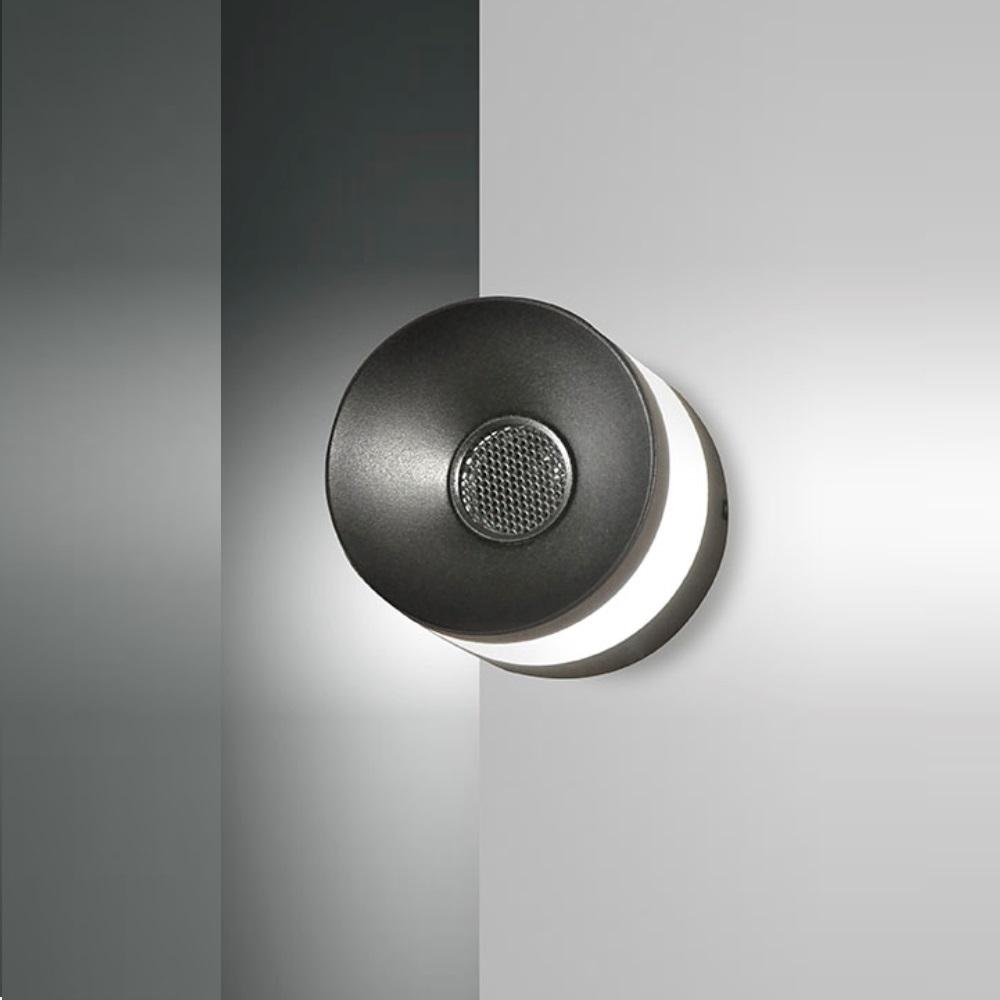 LED Lampe mit Bluetooth Lautsprecher in schwarz schwarz   WOHNLICHT