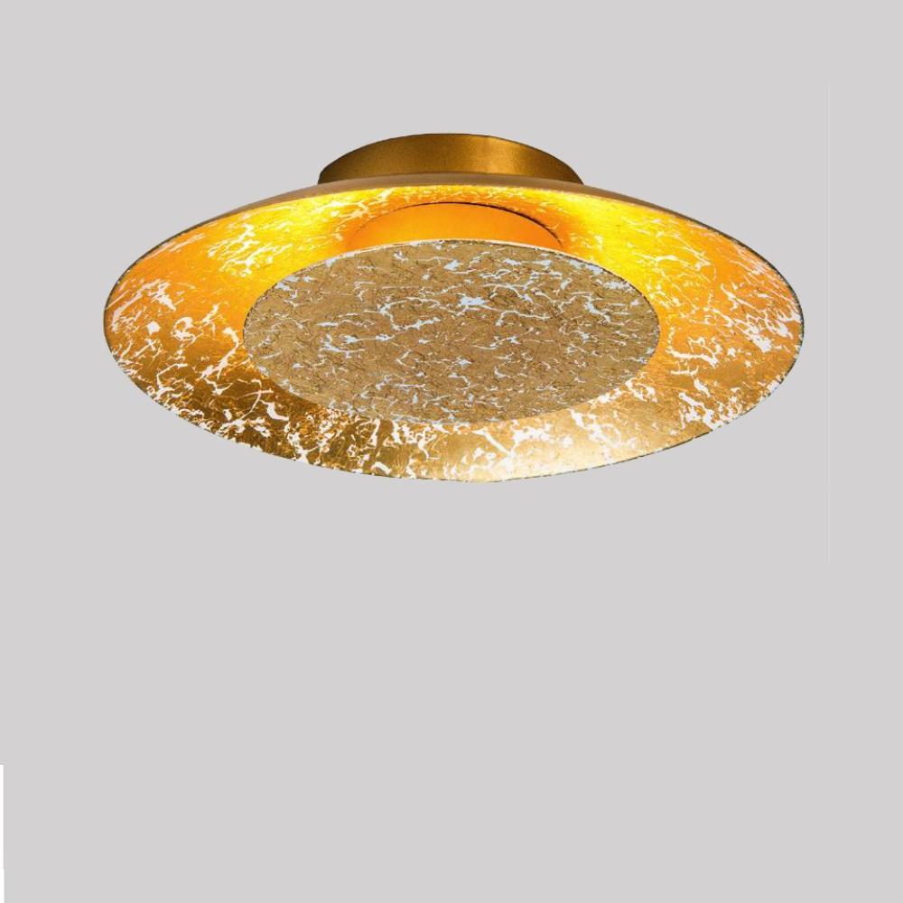 led leuchte f r wand oder decke gold 22cm 6w 1x 6 watt gold 22 00 cm wohnlicht. Black Bedroom Furniture Sets. Home Design Ideas