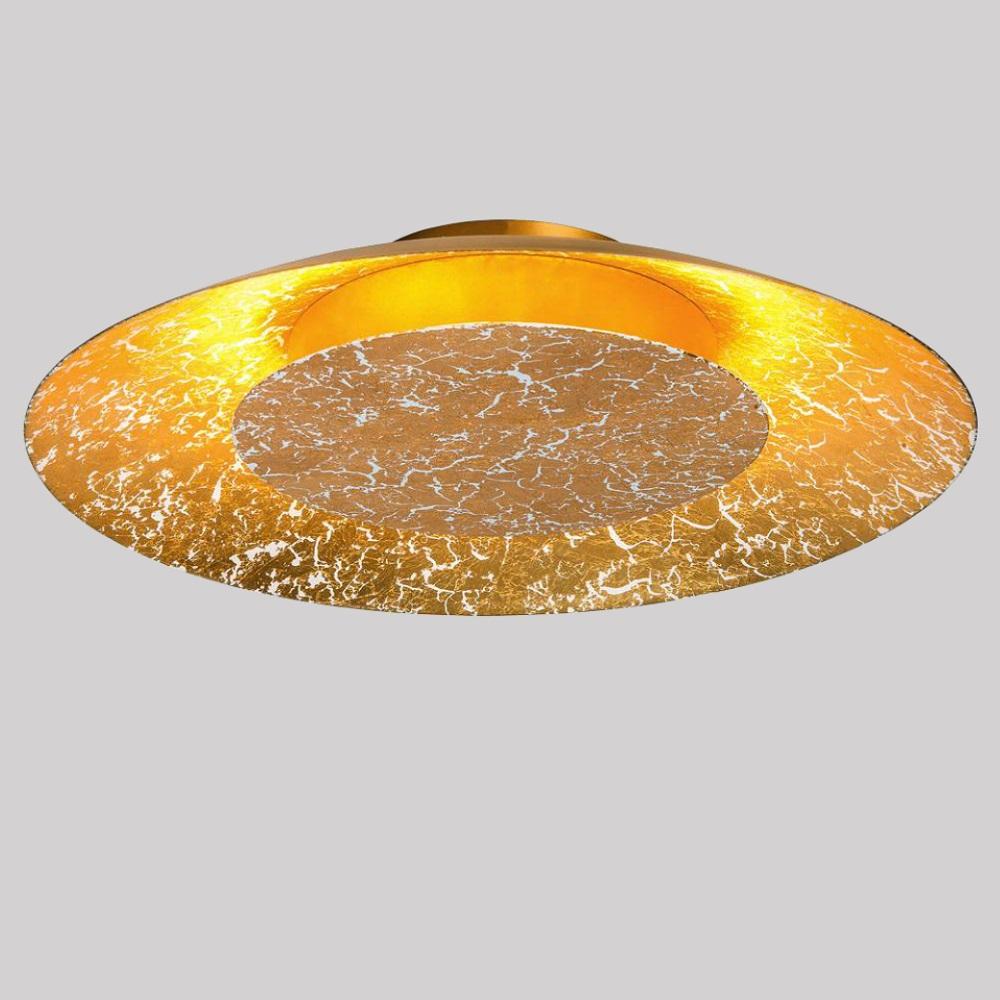 led leuchte f r wand oder decke gold 35cm 12w 1x 12 watt gold 35 00 cm wohnlicht. Black Bedroom Furniture Sets. Home Design Ideas