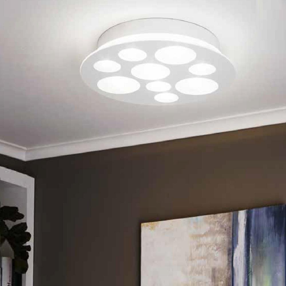 led leuchte pernato f r wand und decke 9 x 3 3w wohnlicht. Black Bedroom Furniture Sets. Home Design Ideas