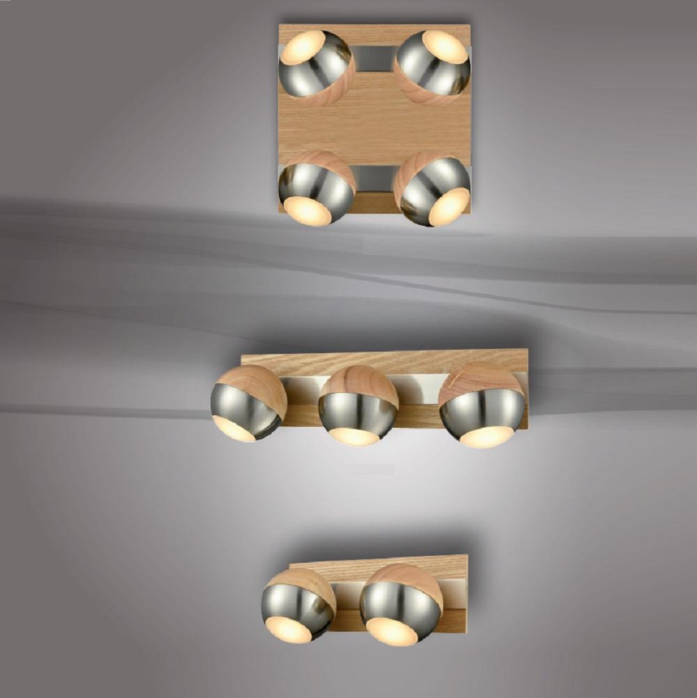 led leuchte verus holz und metall wohnlicht. Black Bedroom Furniture Sets. Home Design Ideas
