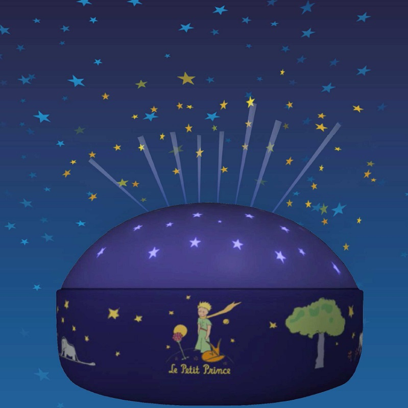 led nachtlicht batteriebetrieben mit sternenhimmel projektion der kleine prinz inklusive led. Black Bedroom Furniture Sets. Home Design Ideas