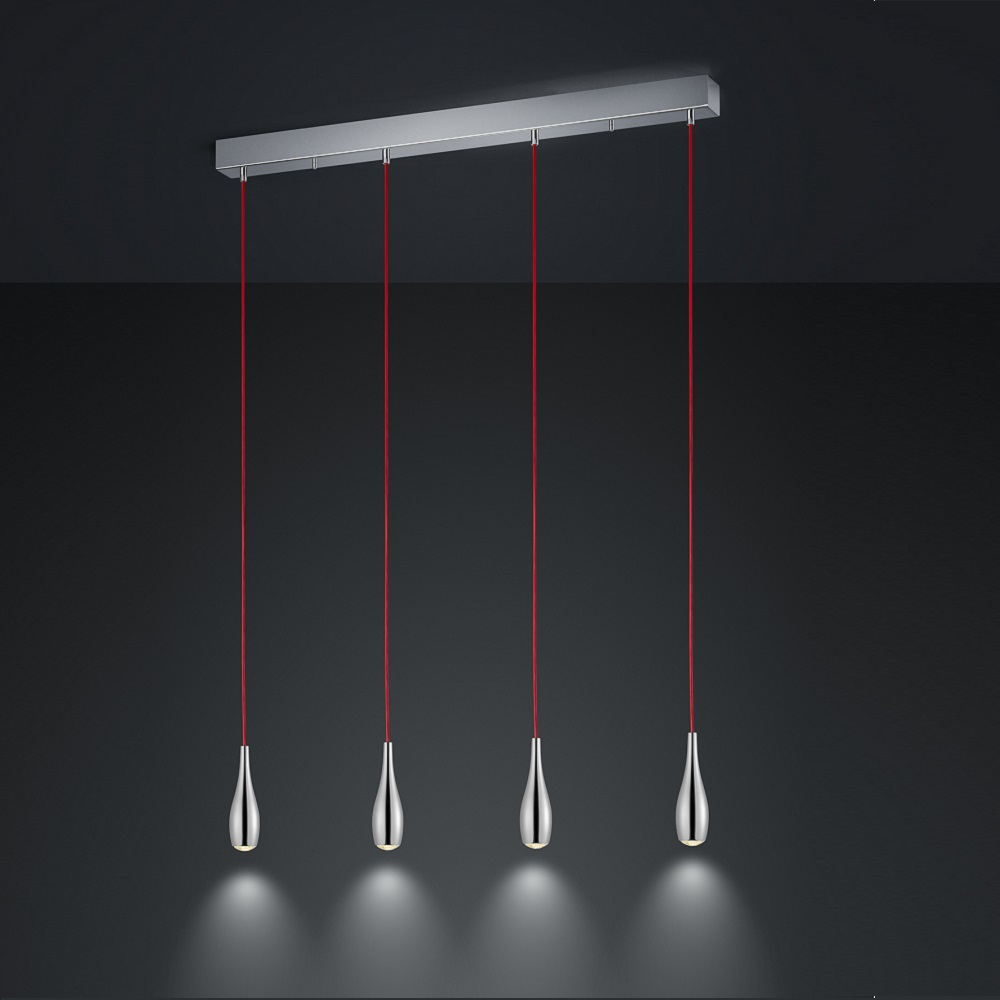 led pendelleuchte cobra 1 3 4 oder 5 flammig wohnlicht. Black Bedroom Furniture Sets. Home Design Ideas