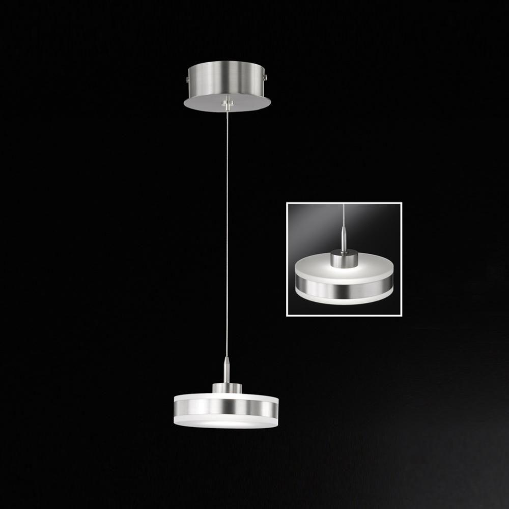 led pendelleuchte modern 1 flammig rund d 14cm led. Black Bedroom Furniture Sets. Home Design Ideas