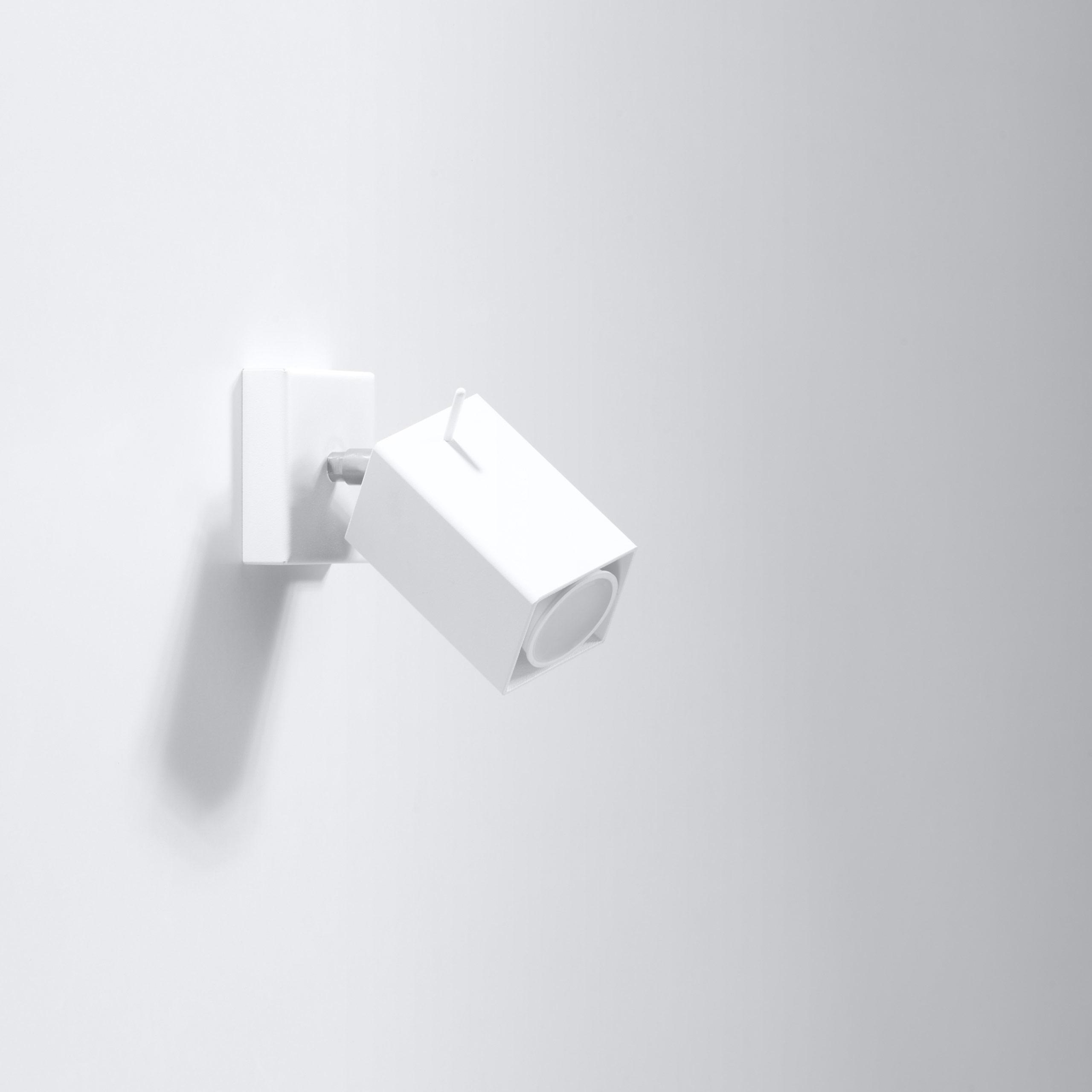 led strahler merida 1 stahl wei f r wand oder decke wohnlicht. Black Bedroom Furniture Sets. Home Design Ideas