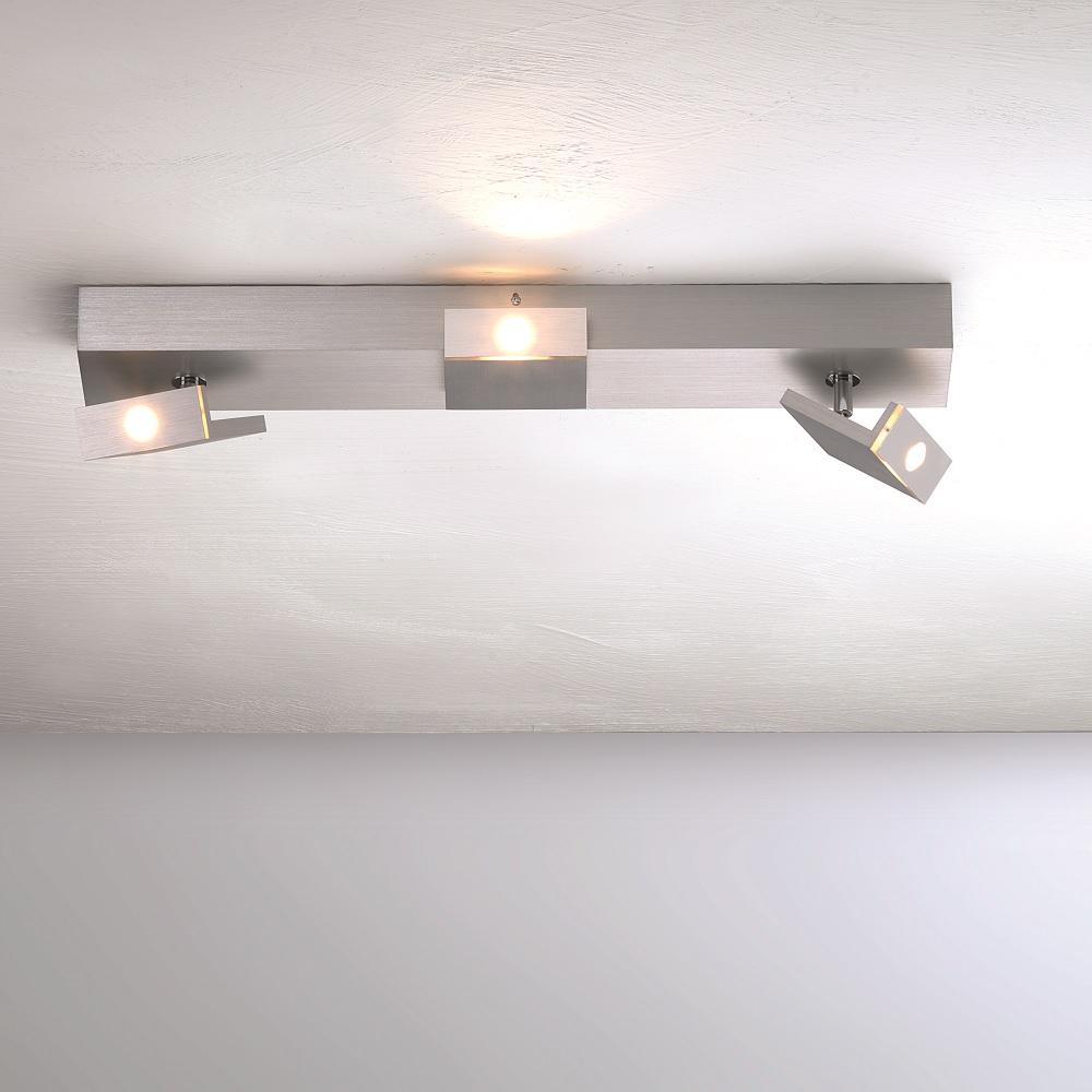 led strahlerserie elle f r die decke 3 flammig 3x 6 5 watt 50 00 cm wohnlicht. Black Bedroom Furniture Sets. Home Design Ideas