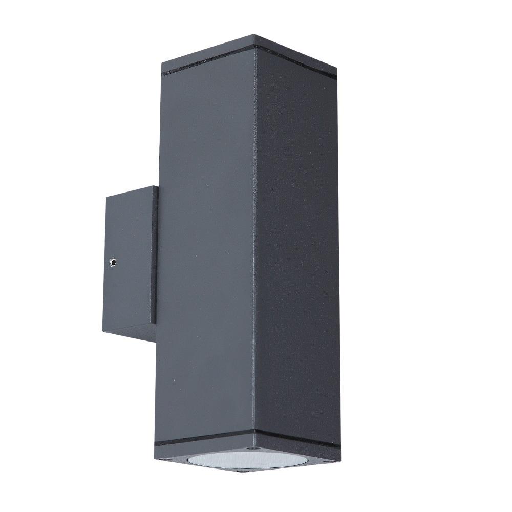 lhg led wandleuchte au en aluminium anthrazit eckig up. Black Bedroom Furniture Sets. Home Design Ideas