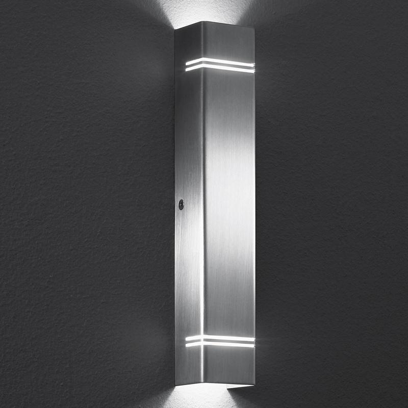 led wandleuchte case lichtaustritt oben und unten poliert poliert wohnlicht. Black Bedroom Furniture Sets. Home Design Ideas