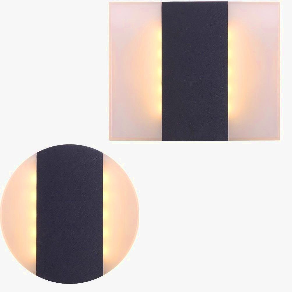 led wandleuchte moonlight in rund oder eckig wohnlicht. Black Bedroom Furniture Sets. Home Design Ideas
