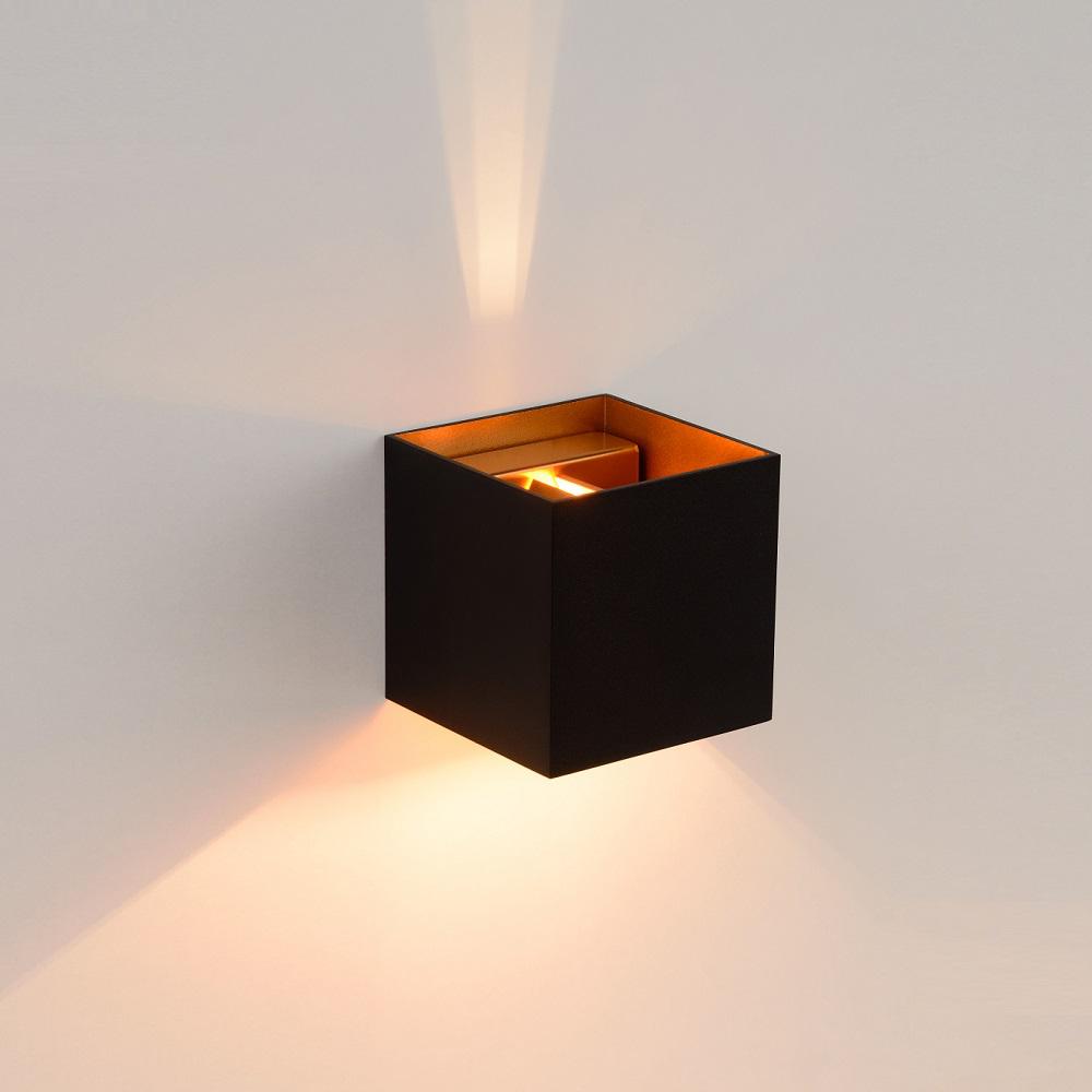 led wandleuchte xio von lucide in grau schwarz gold oder wei wohnlicht. Black Bedroom Furniture Sets. Home Design Ideas