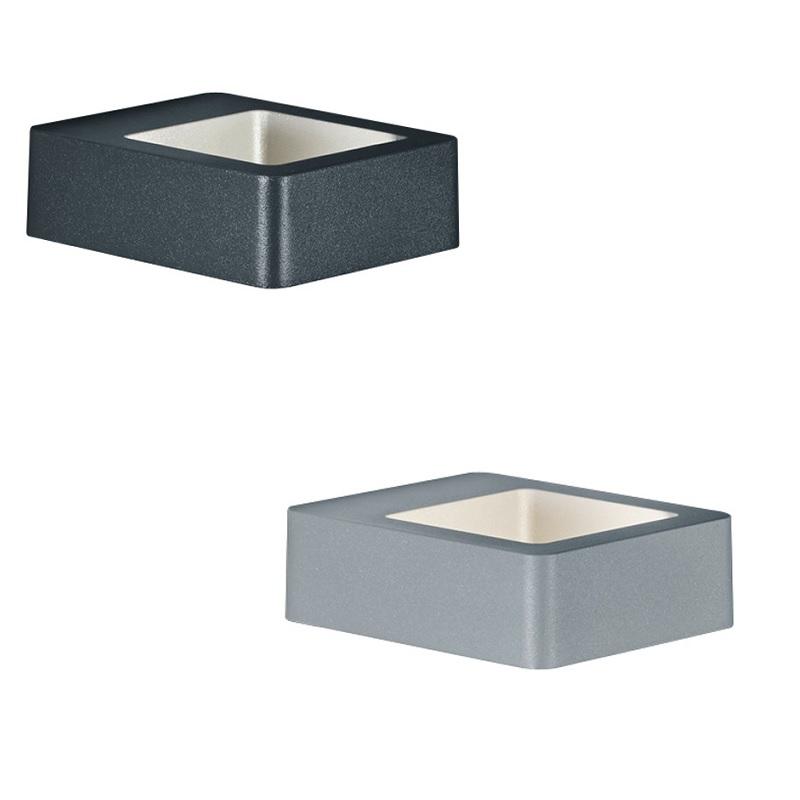 led au en wandleuchte reno in anthrazit oder titan wohnlicht. Black Bedroom Furniture Sets. Home Design Ideas