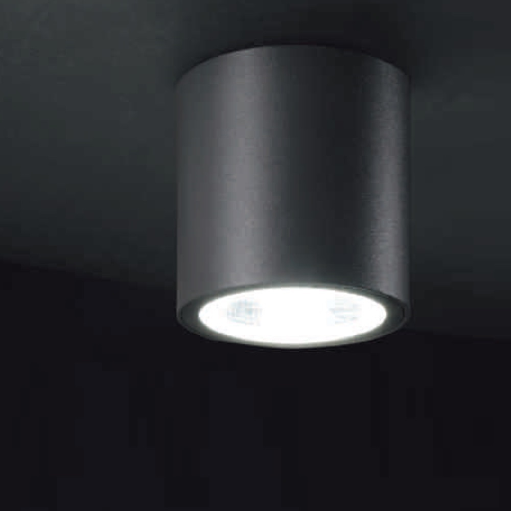 led deckenaufbauleuchte tubus f r au en rund anthrazit. Black Bedroom Furniture Sets. Home Design Ideas