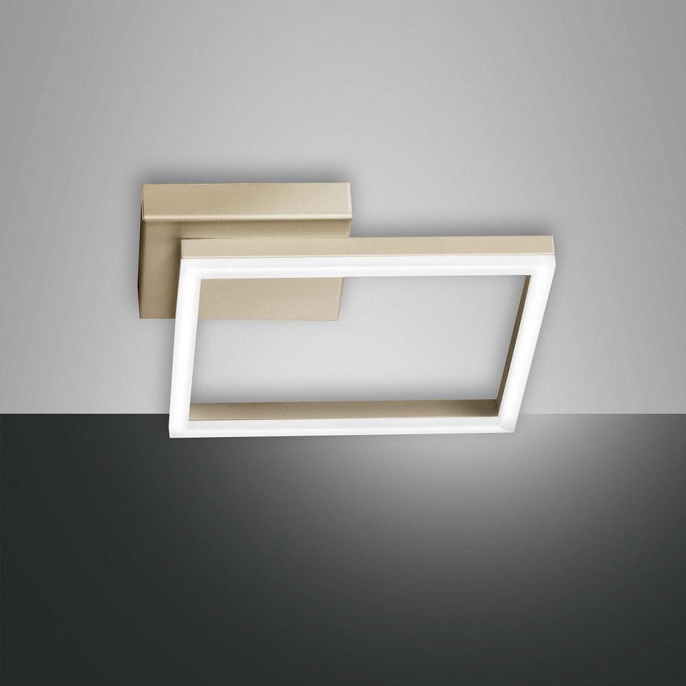 led deckenleuchte bard in gold 27x27cm gold wohnlicht. Black Bedroom Furniture Sets. Home Design Ideas