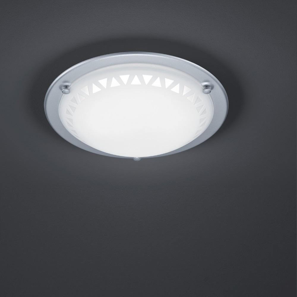 led deckenleuchte mit satiniertem dekorglas ring titan 1x 10 watt titan wohnlicht. Black Bedroom Furniture Sets. Home Design Ideas