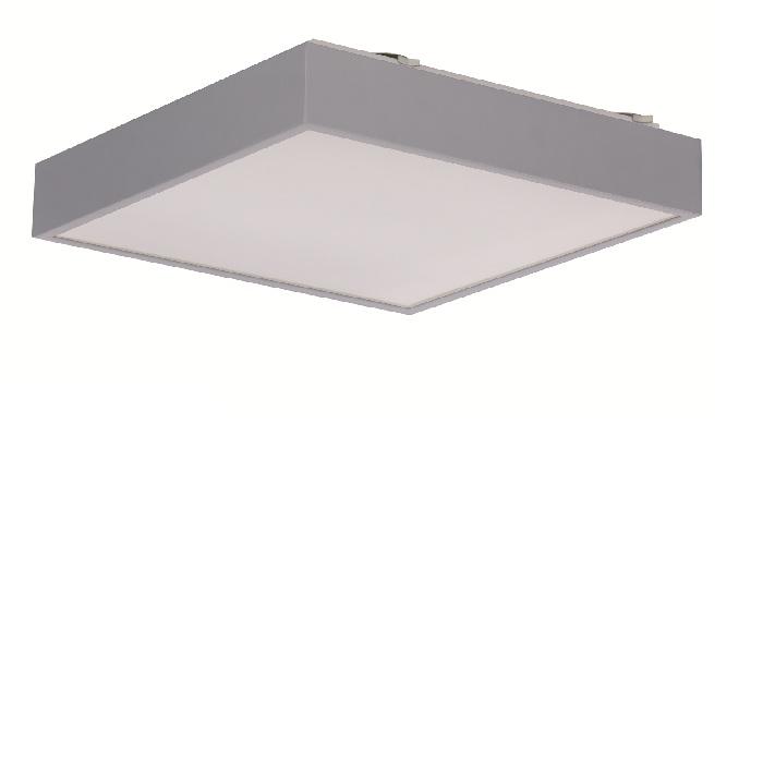 led deckenleuchte in silber 39 9x39 9cm mit 16w led 1200 lumen 4000 k 1x 16 watt 39 90 cm 39. Black Bedroom Furniture Sets. Home Design Ideas