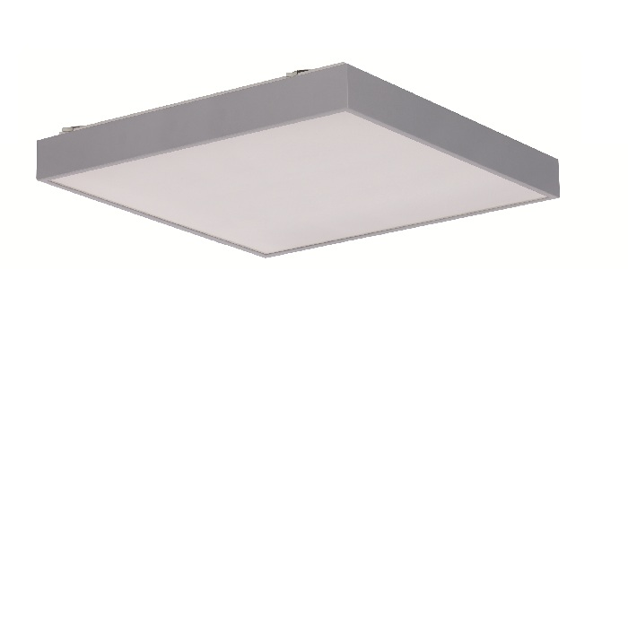 led deckenleuchte in silber 59 9x59 9cm mit 4x 16w led 4800 lumen 4000 k 4x 16 watt 59 90 cm. Black Bedroom Furniture Sets. Home Design Ideas